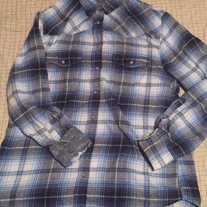 Jach's Girlfriend Blue Plaid Shirt